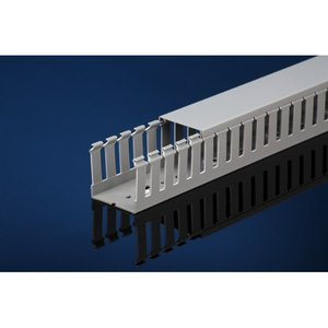 "IBOCO T1-1530G Wide Finger Wire Duct, 1-1/2"" X 3"", Light Gray"