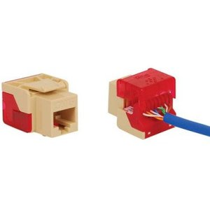 ICC IC1078L6BL Snap In Connector, Modular Jack, EZ Module, 8P8C, CAT6, Blue
