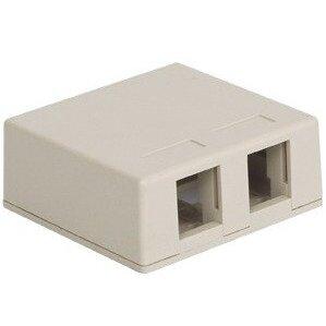 ICC IC107SB2WH Multimedia Box Housing, Surface Mount, 2-Port, White