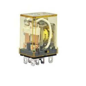 IDEC RH2B-ULAC24V Relay, Ice Cube, Compact, 8-Blade, 10A, 2P, 24VAC Coil, w/ Options