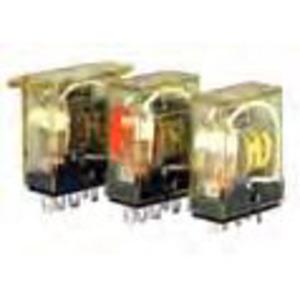 IDEC RH2B-ULDC24V Relay, Ice Cube, 10A, 8-Blade, 2PDT, 24VDC Coil, Indicator