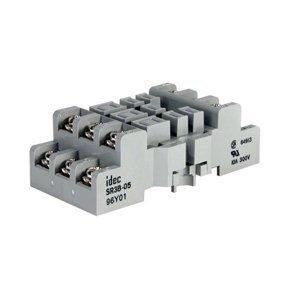 IDEC SR3B-05 Mounting Base Socket, 11 Blade, Screw Terminal, DIN Rail Mount