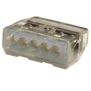Ideal 30-087J Wire Connector, Push-In, 5-Port, 20 - 12 AWG, Gray, 150/Jar
