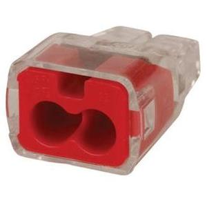 Ideal 30-1032 Wire Connector, 2-Port, Push-In, 18 - 12 AWG, 100/PK