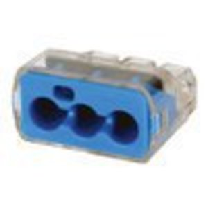 Ideal 30-1039 Wire Connector, Three Port, Push In, 10 to 14 AWG