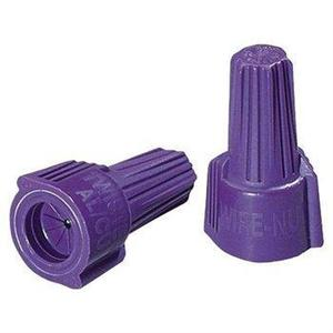 Ideal 30-165 Wire Connector, Winged Twister, 18 to 12 AWG, CU/AL Rated, Purple
