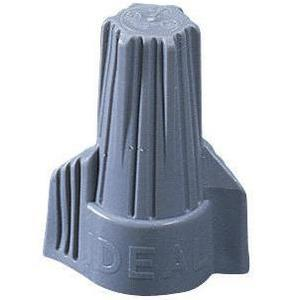 Ideal 30-342 Wire Connector, Type: Winged Twister, 18 to 6 AWG, Gray
