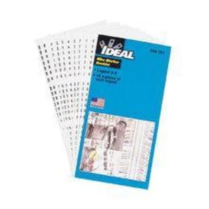 "Ideal 44-102 Wire Marker Booklet, Legend: A-Z, 0-15, +, -, 1-1/2"" Markers"
