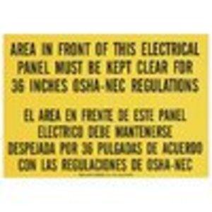 Ideal 44-877 OSHA Regulation Sign