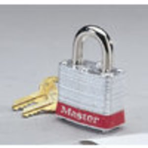 Ideal 44-906 Lockout Padlock - Red, 2 Brass Keys