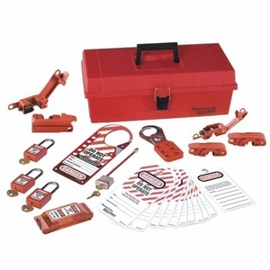 Ideal 44-979 Lockout/Tagout Kit, 25 Pieces