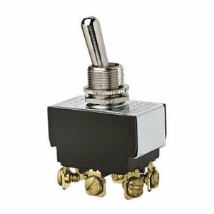 Ideal 774000 Heavy Duty Toggle Switch, DPDT, (On)-Off-(On), 6 Terminals