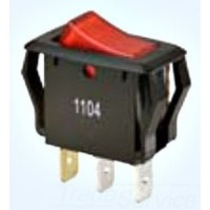 Ideal 774039 Appliance Rocker Switch, Red Lighted, SPST, On-Off