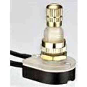 Ideal 774061 Rotary Switch, Brass, SPST, On-Off