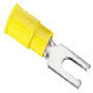"Ideal 83-7101 Locking Fork Terminal, Vinyl Insulated, 12-10 AWG, 1/4"" Stud"