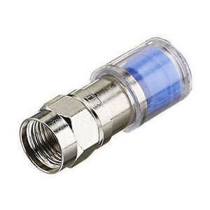 Ideal 89-045 F Connector, Compression, RG6, Jar of 50