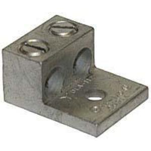 Ilsco AU-0 Mechanical Lug, 2-Conductor, 1-Hole Mount, Aluminum, 14 - 1/0 AWG