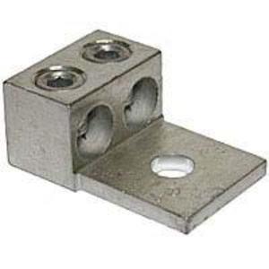 """Ilsco AU-600 Mechanical Lug, 1-Hole, 2-Conductor, 2 AWG - 600 MCM, 1/2"""" Stud Size, Aluminum"""