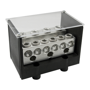Ilsco PDB-55-500-1 Power Distribution Block, 5-Pole, 600V, Aluminum