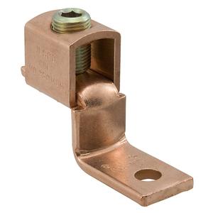 Ilsco SLU-400 Copper Solderless Lug, 1/0 AWG - 500 MCM, 1-Conductor, 1-Hole Mount