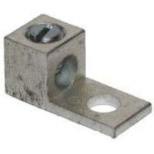 "Ilsco TA-0 Mechanical Lug, 1-Hole, Aluminum, (1) 14 - 1/0 AWG CU/AL, 1/4"" Stud Size"