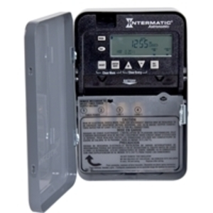 Intermatic ET8015C Time Switch, 7 Day, Astronomic, SPST, NEMA 1, 30A, 120-277VAC