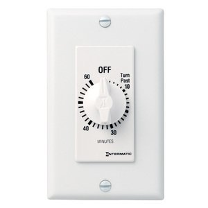 Intermatic FD60MWC Time Switch, 60-Minute, SPST, White