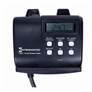 Intermatic HB880R Heavy-Duty Digital Plug-In Timer, 7-Day