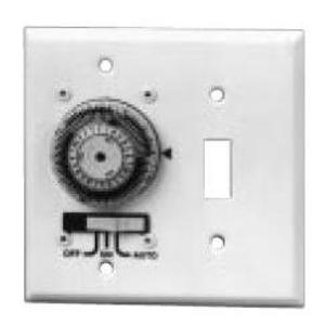 Intermatic KM2ST-2G 24-Hour Time Switch, In-Wall, White