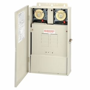 Intermatic T40604RT3 Control System with Transformer and 300 W Load Center with T104M & T106M Mechanisms