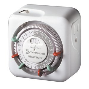 Intermatic TN311 24-Hour Heavy Duty Grounded Timer, White