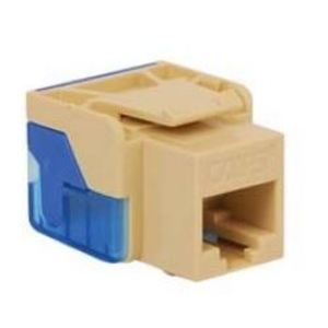 International Connectors & Cable IC1078E5AL Snap-In Jack, 8P8C, EZ Style, CAT5e, Keystone, Almond