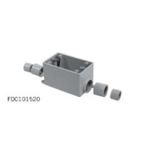 "Ipex 077291 PVC Device Box, 1-Gang, 1/2"" - 1"" Hub, Depth: 2-3/4"", FDC Style"