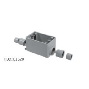 "Ipex 077299 PVC Device Box, 1-Gang, 1/2"" - 1"" Hub, Depth: 2-3/4"", FDS Style"