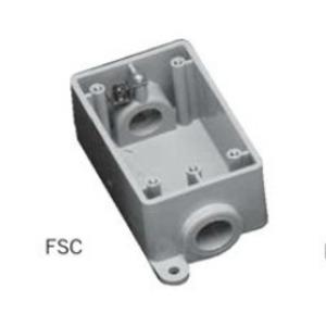 "Ipex 077608 PVC Device Box, 1-Gang, 3/4"" Hub, Depth: 2"", FSC Style"