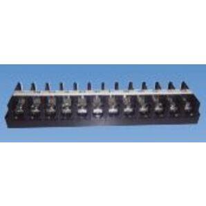 JITE Technologies BTB671-00-12-1 Terminal Block, Barrier Type, 12 Pole, Black Polycarbonate