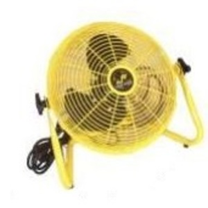 "Jan Fan JF-12F 12"" Safety Yellow Industrial Workstation Fan"