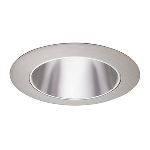 "Juno Lighting 17-PTSC Cone Trim, 4"", Pewter Alzak Reflector/Satin Chrome"