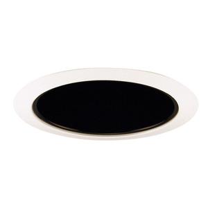 "Juno Lighting 206-BWH Cone Trim, Deep, 5"", BR30/PAR30, Black Alzak Reflector/White Ring"