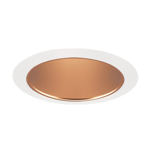 "Juno Lighting 206-WHZWH Cone Trim, Deep, 5"", BR30/PAR30, Wheat Haze Reflector/White Ring"