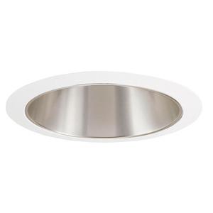 "Juno Lighting 207-HZWH Cone Trim, 5"", R20/PAR20, Haze Reflector/White Ring"