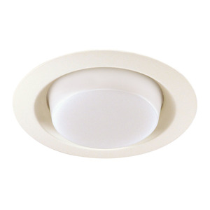 "Juno Lighting 21-WH Drop Opal Trim, 6"", White"