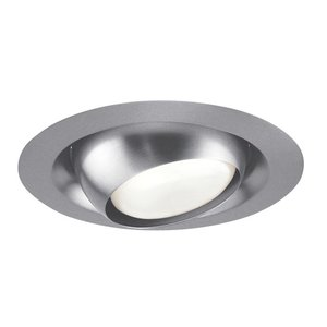 "Juno Lighting 229-SC Adjustable Eyeball Trim, Regressed, 6"", PAR30L/BR30, Satin Chrome"