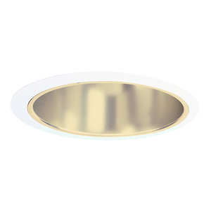 "Juno Lighting 232-GWH Reflector Trim, w/ Torsion Springs, 6"", Gold Reflector/White Trim"