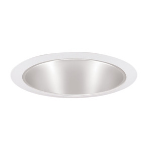 "Juno Lighting 247S-HZWH Cone Trim, Shallow, 6"", Haze Reflector/White Trim"