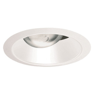 "Juno Lighting 26-WWH Cone Trim, Straight, 6"", Gloss White Reflector/White Trim"