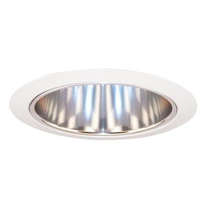 "Juno Lighting 27-CWH Cone Trim, Tapered, 6"", Clear Alzak Reflector/White Trim"
