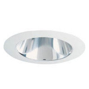 "Juno Lighting 442-CWH Cone Trim, Deep, 4"", Clear Alzak Reflector/White Trim"