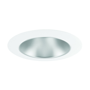 "Juno Lighting 442-HZWH Cone Trim, Deep, 4"", Haze Reflector/White Trim"