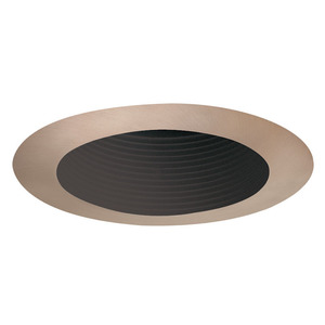 Juno Lighting 444-BABZ 4IN LV TRIM BLK BAF